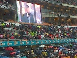 Mandela+Memorial+Obama+Soweto